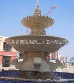 欧式砂岩喷水池|花园水景|室外大型广场公园雕塑喷泉