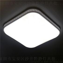 黔静灯具2017年爆款铁艺吸顶灯 圆形正方形LED家居卧室吸顶灯