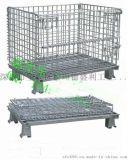 福永装铸造件折叠铁笼-折叠物流笼厂家-仓库存货铁笼-金属网格笼批发