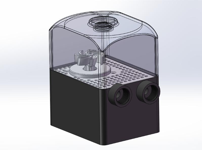 电脑CPU循环散热水泵电脑水冷系统配件水箱一体循环降温水泵