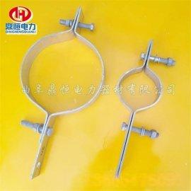 不锈钢u型抱箍电缆抱箍拉线抱箍图片