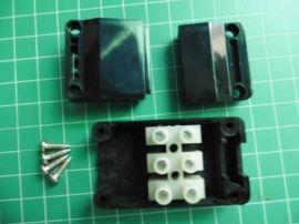 PC耐高温三位接线盒 配PA9-3P品牌端子台