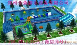 河北保定移动水上乐园 充气水滑梯支架水池厂家订做