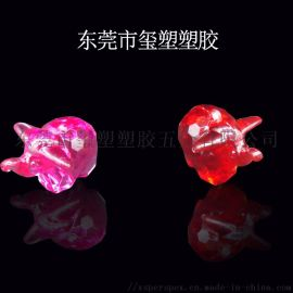 东莞玺塑动物水晶饰品加工透明亚克力水晶厂家