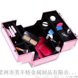 手提精美化妝箱 美容工具收纳铝箱