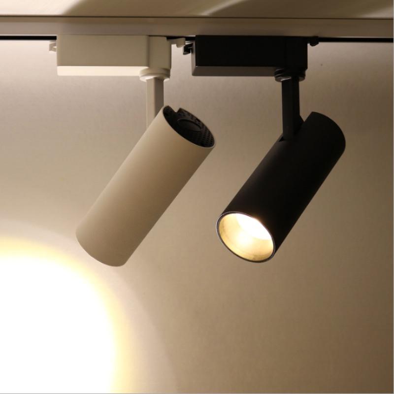 LED长筒轨道射灯,室内COB服装照射LED轨道灯