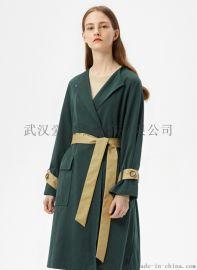 广州女装进货服装地点千百惠毛呢风衣外套【一手货源】