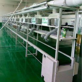 电子组装生产线 皮带输送流水线 电器生产输送滚筒线