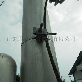 ADSS光缆杆用引下线夹1.5米不锈钢带型引下金具