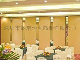 深圳皇岗餐厅移动隔断悬挂屏风墙设计