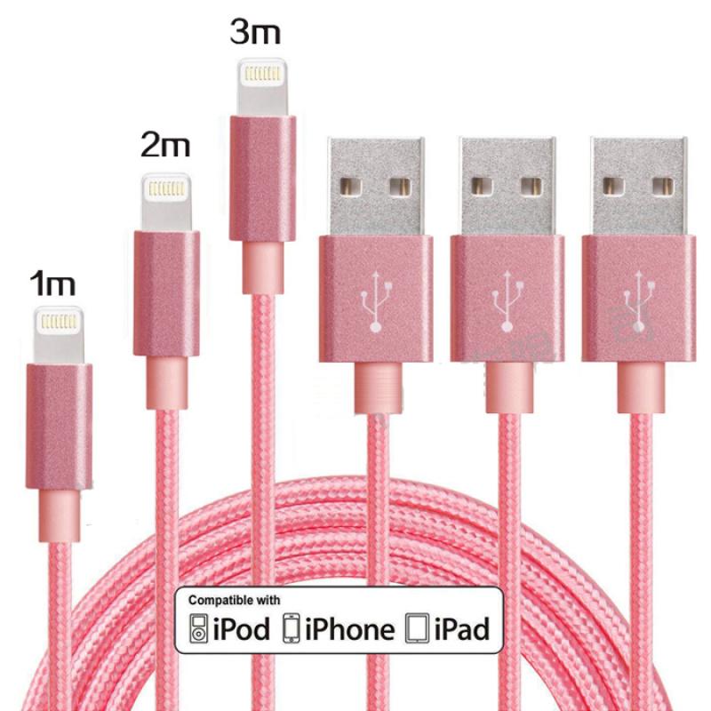 适用iphone7 编织数据线 苹果6s快充线