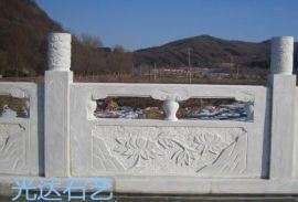 专业制作汉白玉桥栏杆、花岗岩景观桥栏杆