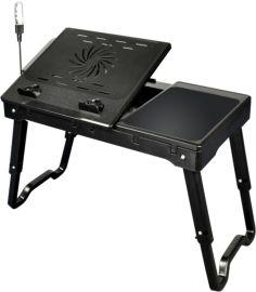 美極了牀上電腦桌 折疊強風散熱USB筆記本桌子