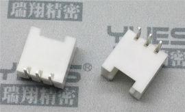 PCB连接器2.0插针 带扣90度电路板连接器