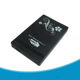 厂家直销 亮面花纹2.5寸SATA ABS高档塑胶超薄移动硬盘盒 USB3.0