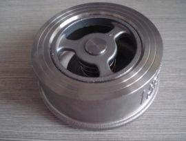 厂家专业供应不锈钢H71W-25P法兰弹簧升降对夹止回阀
