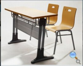 双人双柱课桌椅 校用培训桌椅 学生学习桌
