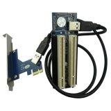 臺式機PCIe轉PCI擴展卡 PCI-express轉雙PCI槽 外置聲卡