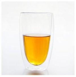 供应双层玻璃杯人工吹制隔热高硼硅玻璃杯可批发450ML淘宝爆款