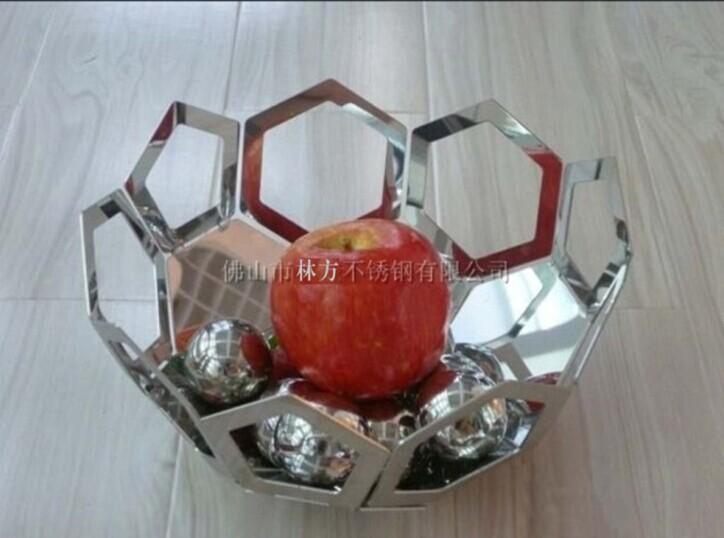不锈钢果盘,304创意不锈钢镂空果盘,酒店艺术摆设果盘