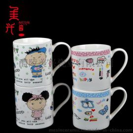 醴陵库存卡通陶瓷杯 创意礼品马克杯 日用陶瓷杯子