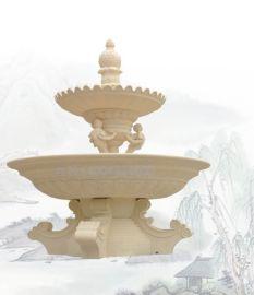砂岩喷泉批发 辽宁丹东景观喷泉案例 人造砂岩喷水池流水钵