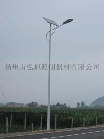 扬州弘旭照明专业生产太阳能灯杆8米普瑞芯片45W小型LED灯杆