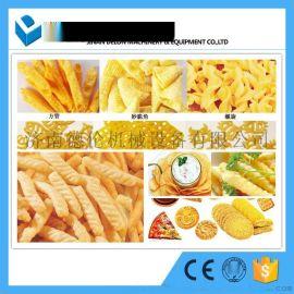 呀土豆空心薯条机器 虾条生产线 休闲食品