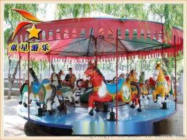 童星工厂价格 简易转马 广场新型游乐设备