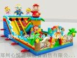湖南猪猪侠新款充气大滑梯15X8米儿童充气汽包价格