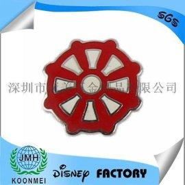小红伞圆牌锌合金铜珐琅胸章勋章钥匙扣定制