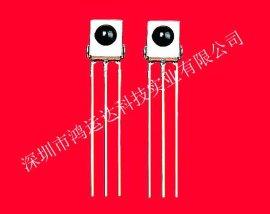 深圳厂家生产压膜圆点铁壳接收头|德国IC红外遥控接收头HYD1638D