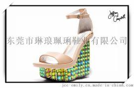 美国Jeffrey Campbell时尚坡跟凉鞋