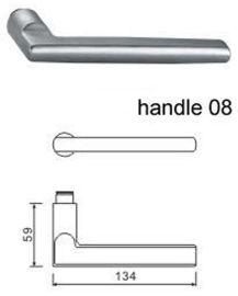 304不锈钢门锁把手H08