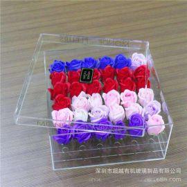 批发定做亚克力鲜花盒 透明亚克力收纳盒玫瑰花礼盒情人节礼品盒