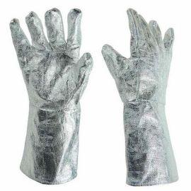 全铝箔耐高温手套,1000度抗辐射热手套,高温锅炉防护手套