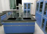 贵州双层锁边实芯理化板实验台,全钢通风柜
