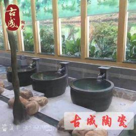 景德镇陶瓷浴缸 温泉会所大澡缸 澡堂陶瓷大缸厂家直销