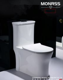 蒙诺雷斯8141 四孔超漩式连连体座便器坐便器抽水马桶陶瓷座便器坐厕带缓慢盖板