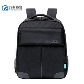 黑色双肩包背包电脑包定制定做可定制logo