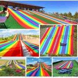 大型戶外遊樂 彩色滑梯 彩虹滑道 滑草滑道廠家