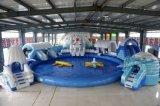 充氣水滑梯 冰雪世界水滑梯 支架游泳池 移動水上樂園