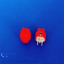 方形红色/蓝色按钮开关 四脚复位带灯轻触开关 12*12mm高品质开关