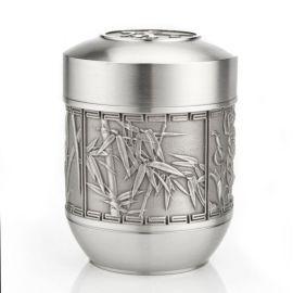泰國錫器 梅蘭竹菊錫茶罐 材質珍 適合愛茶人士收藏