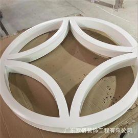 浙江复古铝窗花工程幕墙 白色圆形氟碳铝合金窗花