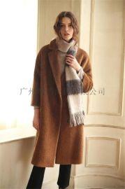 折扣服裝歐美潮牌雙面羊絨大衣剪標專櫃正品