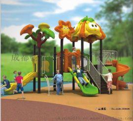 成都兒童滑梯廠家,兒童游樂區玩具,四川幼兒戶外大型滑滑梯