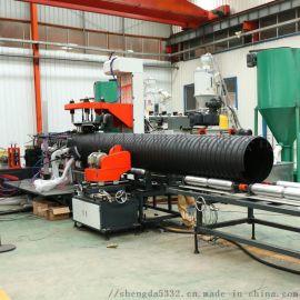 厂家直销圣大管业钢带PE波纹管大口径接口少不易渗漏