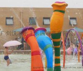 水上乐园设备儿童戏水小品大象滑梯