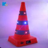LED发光路锥USB充电防水反光路障可伸缩